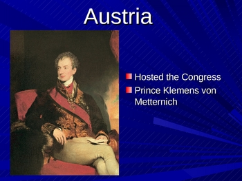 Congress of Vienna PowerPoint
