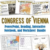 Congress of Vienna PowerPoint and Reading Bundle