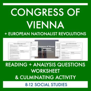 Congress of Vienna Reading & Activity