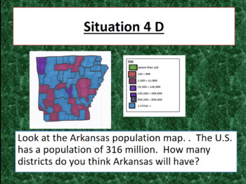 Congressional Districts Powerpoint memorization game, notes
