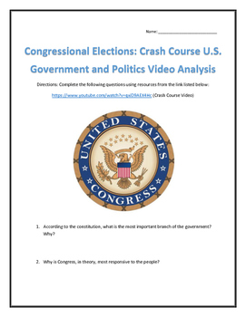 Congressional Elections: Crash Course U.S. Government and Politics Analysis