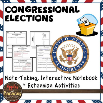 Congressional Elections Interactive Note-taking Activities