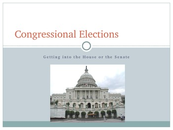 Congressional Elections Power Point