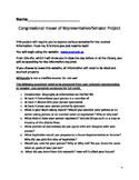 Congressional House of Representatives/Senators Project