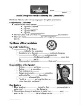 Congressional Leadership and Committees Lesson