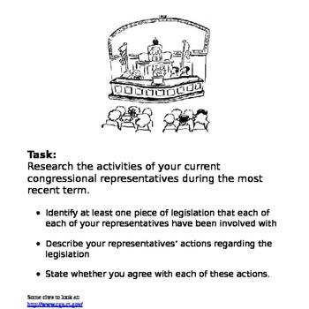 Congressional Legislature Assignment