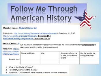 Congressional Medal of Honor Webquest