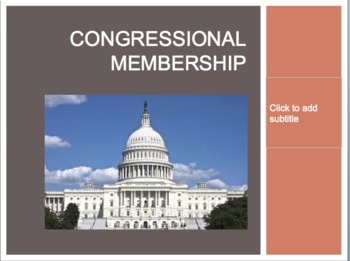 Congressional Membership Powerpoint and Guided Notes