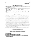 Congressional Organization Lecture Notes