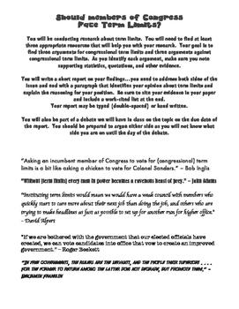 Congressional Term Limits