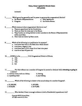 Congressional Test- Legislative Branch