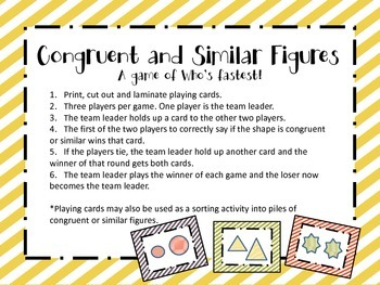 Congruent and similar shapes game