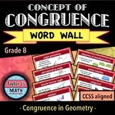 Congruence Geometry Word Wall
