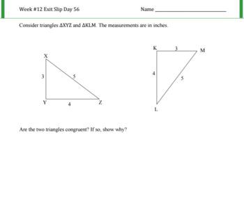 Congruence Postulate SSS Lesson Plan G.CO.B.8