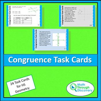 Congruence Task Cards