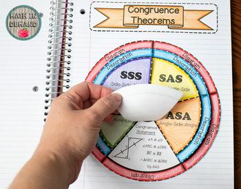 Congruence Theorems Wheel Foldable (SSS, SAS, AAS, ASA, HL)