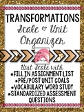 Congruence Transformations Student Scale and Organizer 8.G
