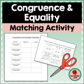 Congruence and Equality Properties Matching