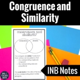 Congruence and Similarity Interactive Notebook Page