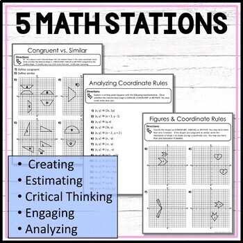 Congruence and Similarity Math Stations for Middle School Math