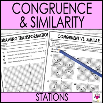Congruence and Similarity Stations