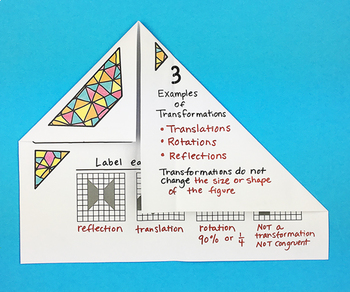 Congruence and Symmetry Foldable by Math Doodles
