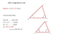 Congruence of Triangle (Quick Math Review Presentation and Handout)