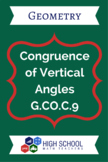 Congruence of Vertical Angles Lesson Plan G.CO.C.9