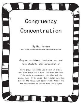 Congruency Concentration