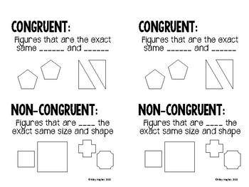 Congruency Interactive Notebook Page