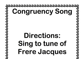 Congruency Song Geometry