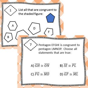 Congruency Task Cards