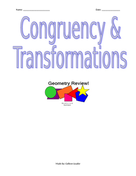 Congruency & Transformations