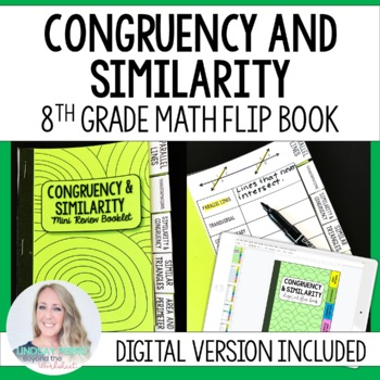 Congruency and Similarity Mini Tabbed Flip Book for 8th Grade Math
