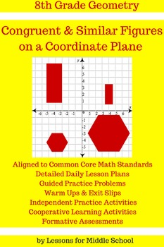 Congruency and Similarity of Shapes on a Coordinate Plane