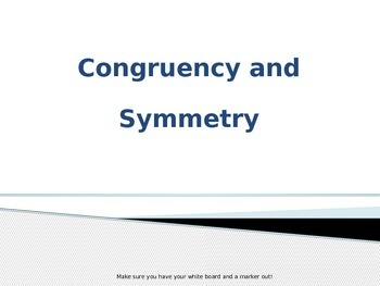 Congruency and Symmetry