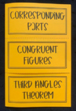 Congruent Figures, Corresponding Parts, Third Angle Theorem (Geometry Foldable)