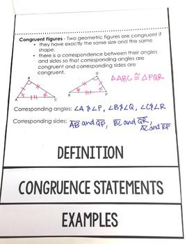 Congruent Figures Flipbook