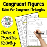 Congruent Figures - Proofs for Congruent Triangles - Notes