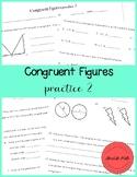 Congruent Figures Practice 2