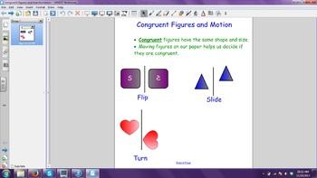 Congruent Figures and Motion Smartboard Slide