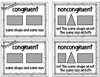 Congruent Noncongruent MiniPosters for Word Walls and Flash Cards Virginia SOL
