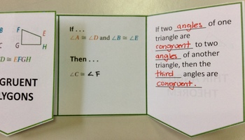 Congruent Polygons and Third Angles Theorem Foldable