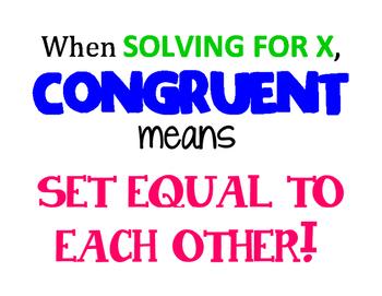 Congruent Poster