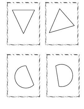 Congruent Shape Cards: Matching, Memory