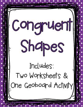 Congruent Shapes Freebie