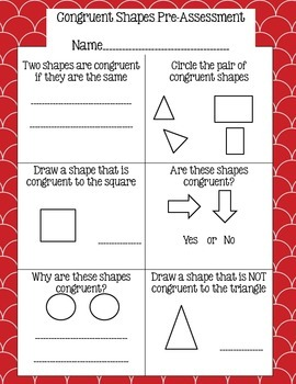Congruent Shapes Activity Pack