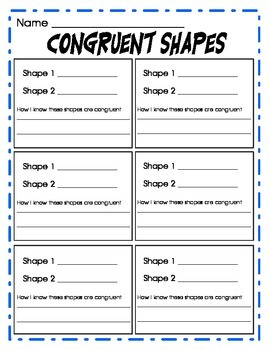Congruent Shapes Pack