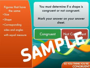 Congruent Shapes Review: Short Keynote Quiz