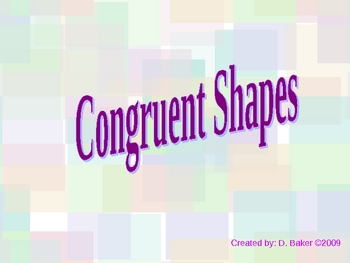 Congruent Shapes or Figures Power Point Presentation